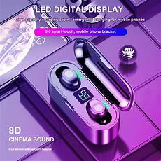 Bluetooth Digital Display Earphone Smart Touch by Original Amoi Smart Touch Digital Display F9 Mini