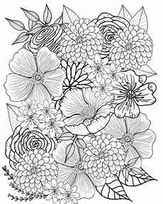 Ausmalbilder Blumen A4 Blumen Bilder Malvorlagen Malvorlagen