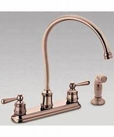 copper kitchen faucet shop moen copper finish 2 handle kitchen hi arc faucet free shipping today overstock