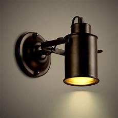adessy industrial loft black metal 1 light led spot light wall sconce indoor sconces wall