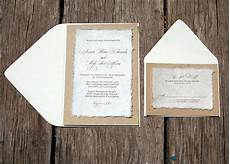 d i y simple rustic cardstock wedding invitation kraft paper bag and invitation