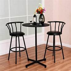 Restaurant Kitchen Furniture 3 Bar Table Set With 2 Stools Bistro Pub Kitchen