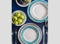 Corelle Brushed Silver 16 Pc. Dinnerware Set, Service for