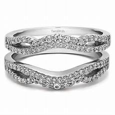 twobirch personalized s double infinity wedding ring guard enhancer walmart com
