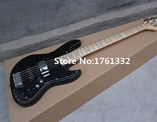 Factory Custom 5 Strings Black Electric Bass Guitar
