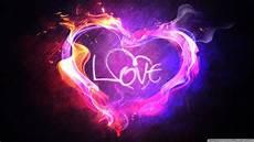 love and heart neon light hd wallpaper