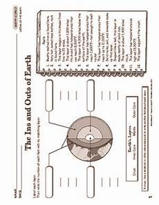 science worksheets earth s layers outer space etc earth pinterest outer space