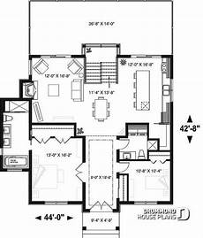 contemporary house plans with walkout basement 1st level modern cottage house plan with finished walkout