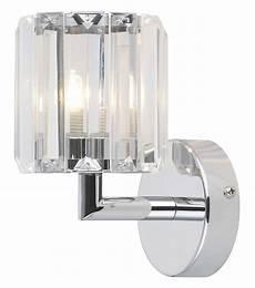 pereti chrome effect bathroom wall light departments diy at b q