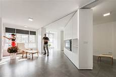 movable walls transform studio into two bedroom pad curbed