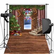 mehofoto merry christmas vinyl background bell for family new fabric flannel