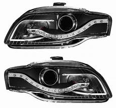 audi a4 s4 b7 2005 2008 projector headlights black r8 led style hid only version 02 az aa407