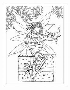 coloring pages of fairies for adults 16630 sitting on gift printable instant etsy