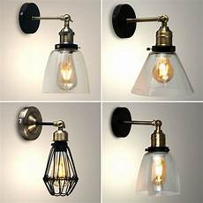 vintage led steunk retro industrial sconce indoor wall light home fitting ebay