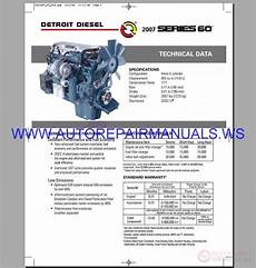 vehicle repair manual 2007 ford e series engine control detroit diesel epa07 series 60 egr old engine operator s technical manual 2007 auto repair