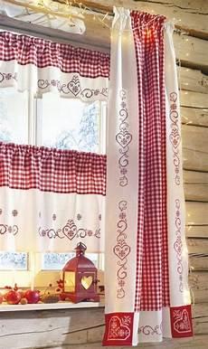 gardinen landhaus landhaus gardinen rot weis kariert runabout von landhaus