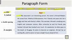 paragraph form technical report writing u1 l3 parts of a paragraph