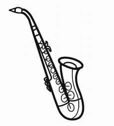 kostenlose malvorlage musik saxophon zum ausmalen
