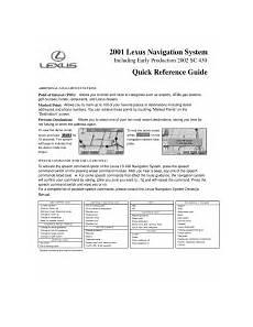 online auto repair manual 2002 lexus ls instrument cluster 2001 lexus ls 430 manuals