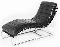 Chaise Longue Fauteuil Relax Cuir Noir Et M 233 Tal Chrom 233