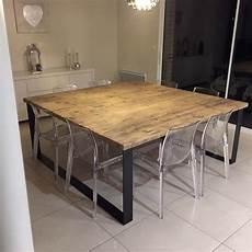 table salle a manger style industriel tables industrielles l or du temps mobilier industriel
