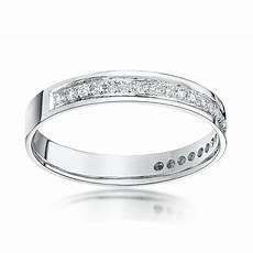 18kt white gold 0 25ct diamond 3 5mm eternity wedding ring