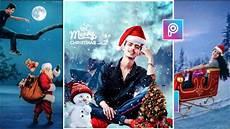 picsart merry christmas photo editing tutorial 2020 happy christmas day editing by bk editz
