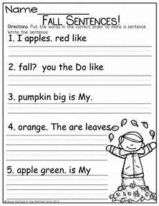 writing sentences worksheets for kindergarten 22094 8 best images of kindergarten sentence worksheets sentence worksheets asking and telling