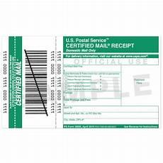 certified mail return receipt template certified mail receipt usps