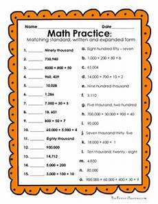 reading and writing numbers in expanded form standard form and written form