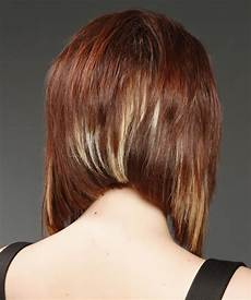 medium straight mahogany bob haircut with light highlights