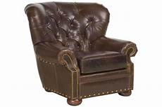 hadley button tufted leather chesterfield club chair