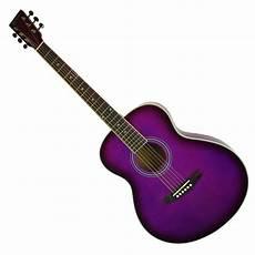 purple guitar new purple acoustic guitar small steel string ebay