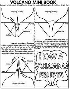volcano book coloring page crayola com