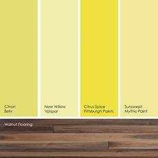 suggested greenish yellow paint picks i like the contrast of these colors against a cool dark