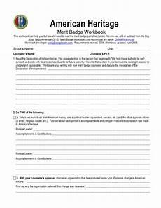 american heritage merit badge worksheet for 5th 12th grade lesson planet