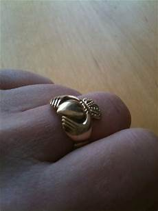 irish wedding ring middle finger the irish in leicester what does wearing the claddagh