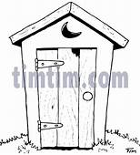 Free Drawing Of An Outhouse BW From The Category History