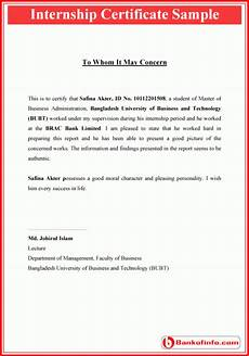 internship certificate format certificate format