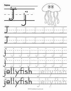 Free Printable Tracing Letter J Worksheet Letter Tracing