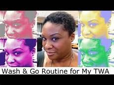 wash and go routine for my twa youtube