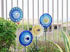 Sale Garden Upcycled Recycled Glass Plate Flower Emily