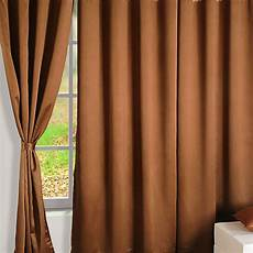 Brown Curtains by Buy Brown Gold Blackout Curtains Plain Readymade Eyelet