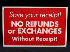 store return policy without receipt store return policy