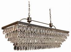 weston rectangular glass drop chandelier brass finish 40 quot victorian chandeliers