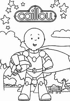 caillou robot coloring page wecoloringpage