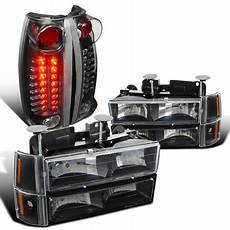 94 gmc 2500 rear light wiring spec d tuning 1994 1998 gmc 1500 2500 3500 black headlights bumper corner ls led