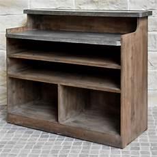 comptoir pas cher comptoir bar style ancien bois zinc 125 50 cm achat