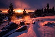 4k wallpaper nature winter winter snow sunset hd nature 4k wallpapers images