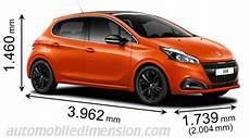 dimensions des voitures peugeot avec longueur largeur et